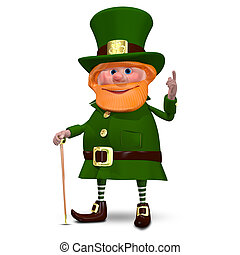 3D Illustration of Saint Patrick