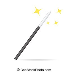 Magicians magic wand vector illustration isolated on white -...