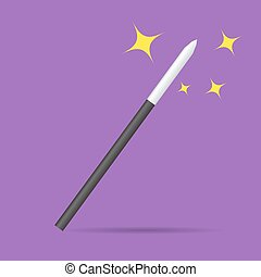 Magicians magic wand vector illustration isolated -...