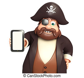 Pirate with Mobile