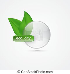 A green city.The concept of an ECO.Vector illustration