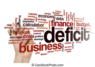 Deficit word cloud concept