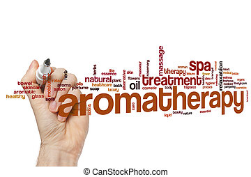 Aromatherapy word cloud concept - Aromatherapy word cloud