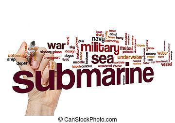 Submarino, palabra, nube