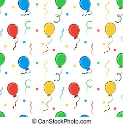 Background with balloons.