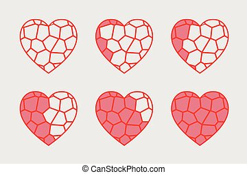 stained glass heart vector animation