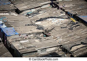 Slum Rooftops in Mumbai