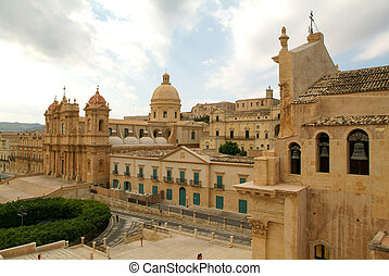 The town of Noto on Italy