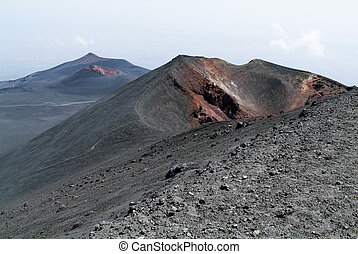 Vulcano of mount Etna on Sicily, Italy