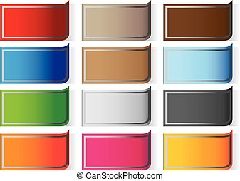 rectangle sticker labels