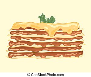 lasagna meal - a vector illustration in eps 10 format of a...
