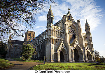 St Albans cathedral - Known locally in Hertfordshire as the...