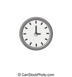 Clock Time Watch Icon Thin Line Vector Illustration