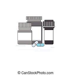 Medicines Prescription Medical Application Health Care Medicine Online Web Banner Thin Line
