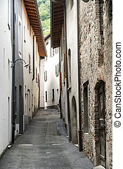 Riva San Vitale (Ticino, Switzerland) - Typical street at...