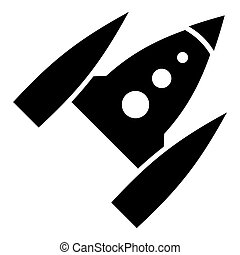 Space rocket icon, simple style - Space rocket icon. Simple...