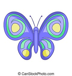 Night butterfly icon, cartoon style - Night butterfly icon....