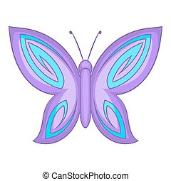 Lovely butterfly icon, cartoon style - Lovely butterfly...