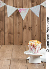 Coconut Muffin. Pennant Flags Holiday Decorations. - Coconut...