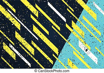 toxic dynamo - abstract, yellow stripes over blue...