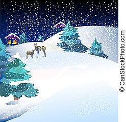 Christmas night, card