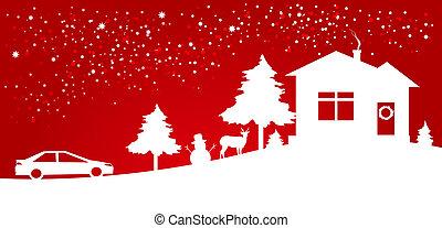 Christmas night card