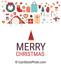 Merry Christmas And Happy New Year Decoration Set Toys Collection