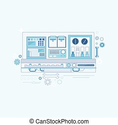 Industrial Automation Industry Production Web Banner Thin...