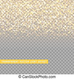 light effect gold texture glowing rain of confetti.