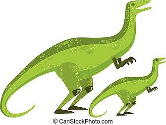 Velociraptor Dinosaur Prehistoric Monster Couple Of Similar...