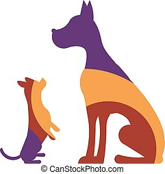 Logo with dogs
