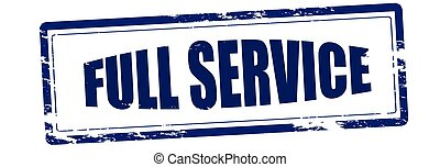 Full service - Rubber stamp with text full service inside,...
