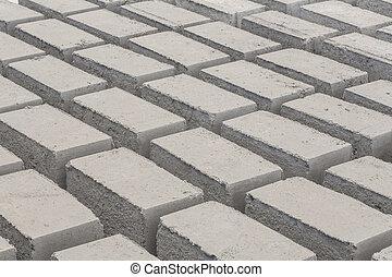 Gray concrete construction block - Gray concrete...