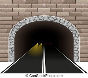 automobile tunnel vector illustration - automobile road...