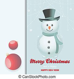 Christmas snow man invite - Christmas Invite Card with Snow...