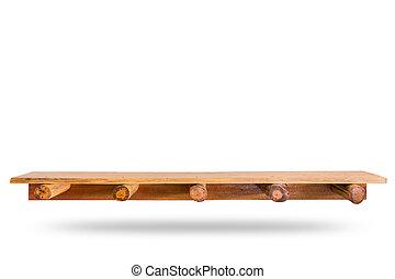 producto, de madera, estante, cima, mostrador, aislado, o,...