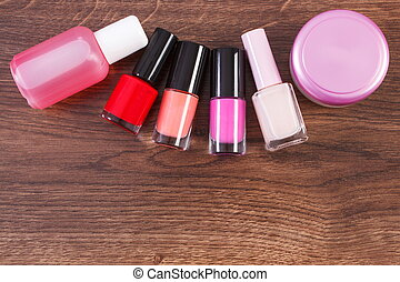 Cosmetics for manicure or pedicure, nail polish and remover,...
