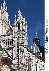 Siena cathedral in a sunny day, Tuscany, Italy