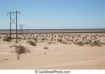 fence along US Mexico border - In California and Arizona the...