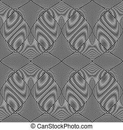 Seamless op art pattern. 3D illusion. Vector illustration.