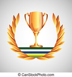 trophy olympic games emblem vector illustration eps 10