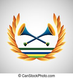 vuvuzela olympic games emblem vector illustration eps 10