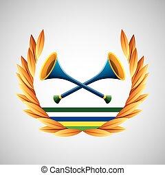 vuvuzela olympic games emblem