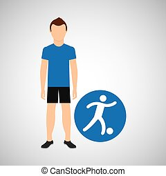 sport man concept football icon design