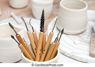Tools of the trade for pottery and ceramics