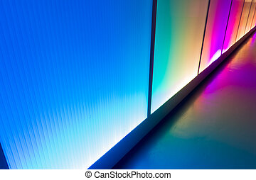 Reflection light wall colorful background