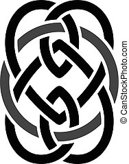 celtic overlapped black abstract floral concept logo logotype