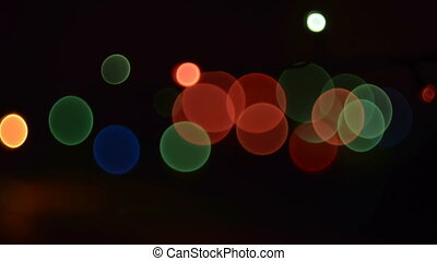 Garland Light Effects. - Light effects on black background....