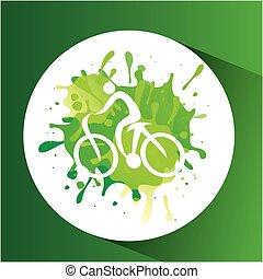 cycling symbol label laurel wreaths