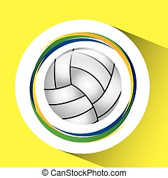ball volleyball olympic games flag - ball volleyball olympic...